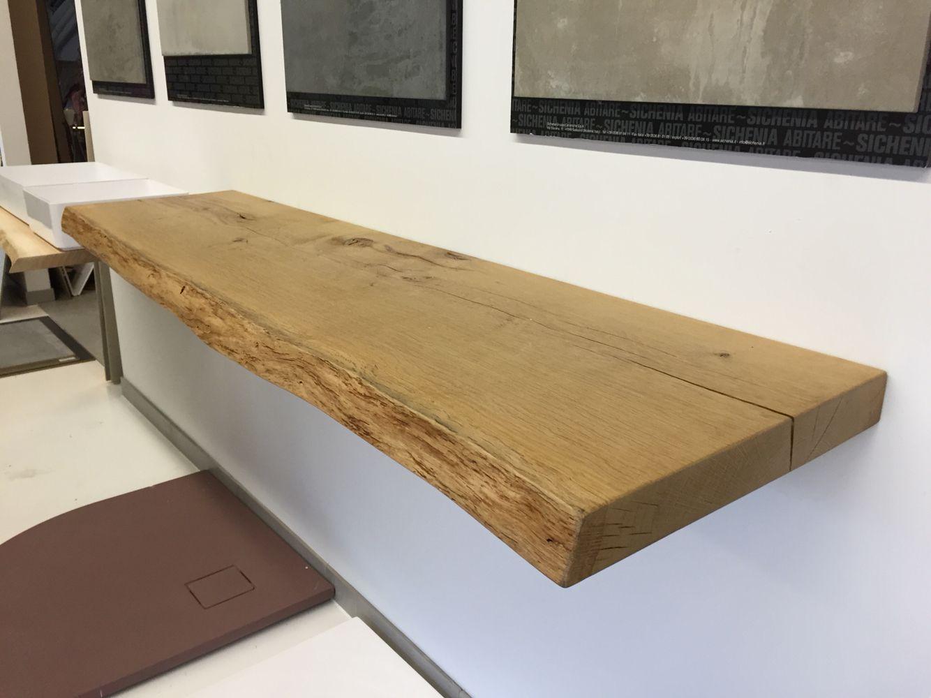 Eiche massiv Waschtischplatte nach Maß | Echtholz Waschtischplatten ...