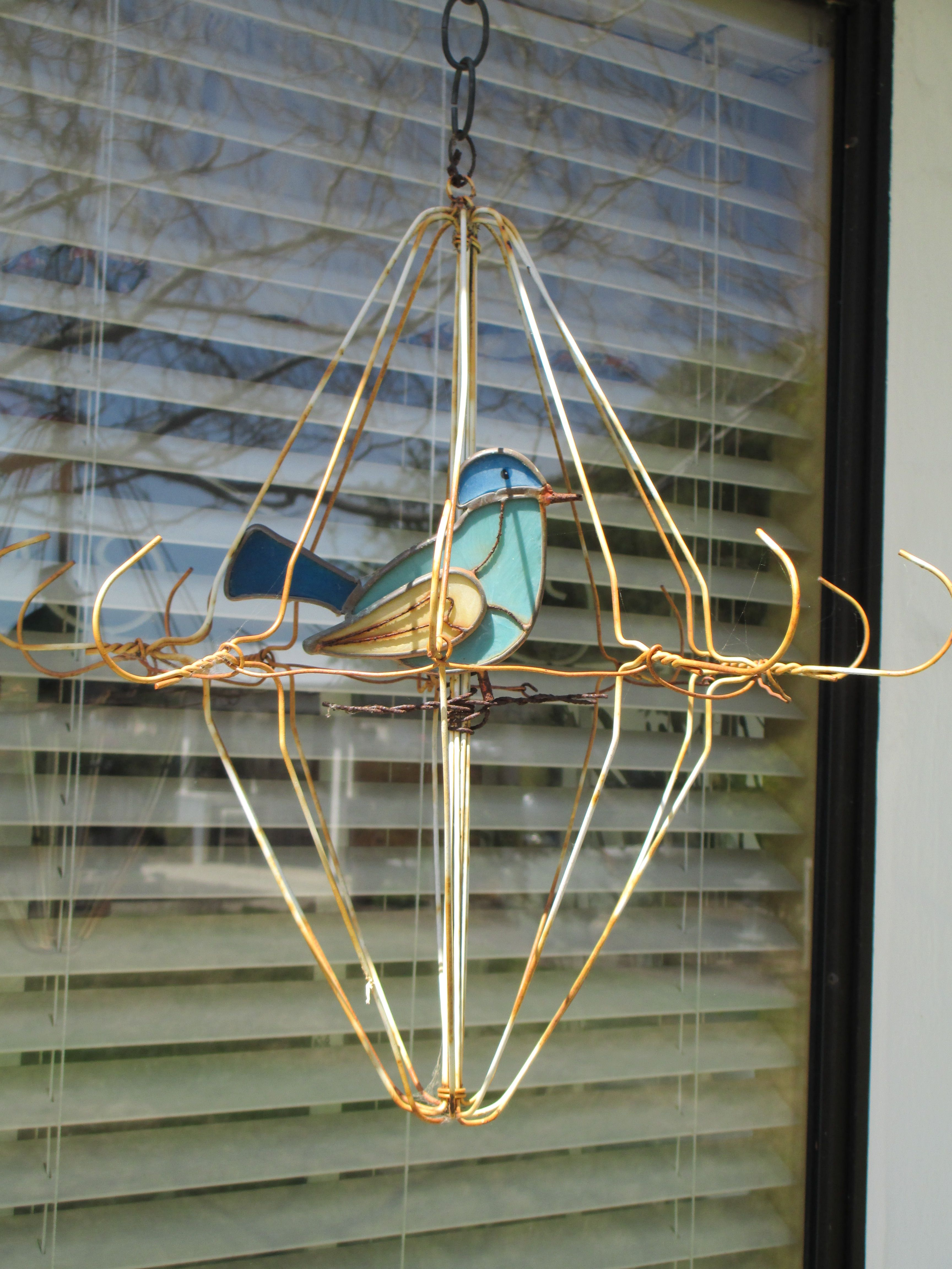 Wire hanger bird cage   Things I want to make!   Pinterest   Wire ...