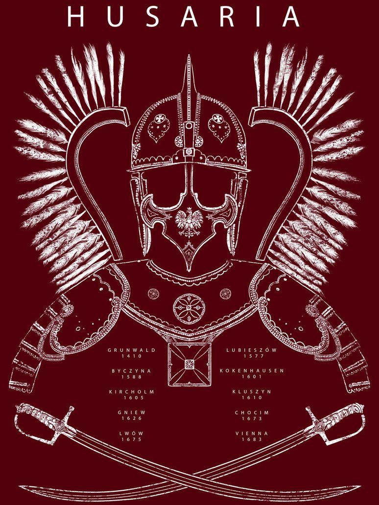 Shirt design history - Polish Winged Hussar T Shirt Design By Robbiemcsweeney Polishhistory