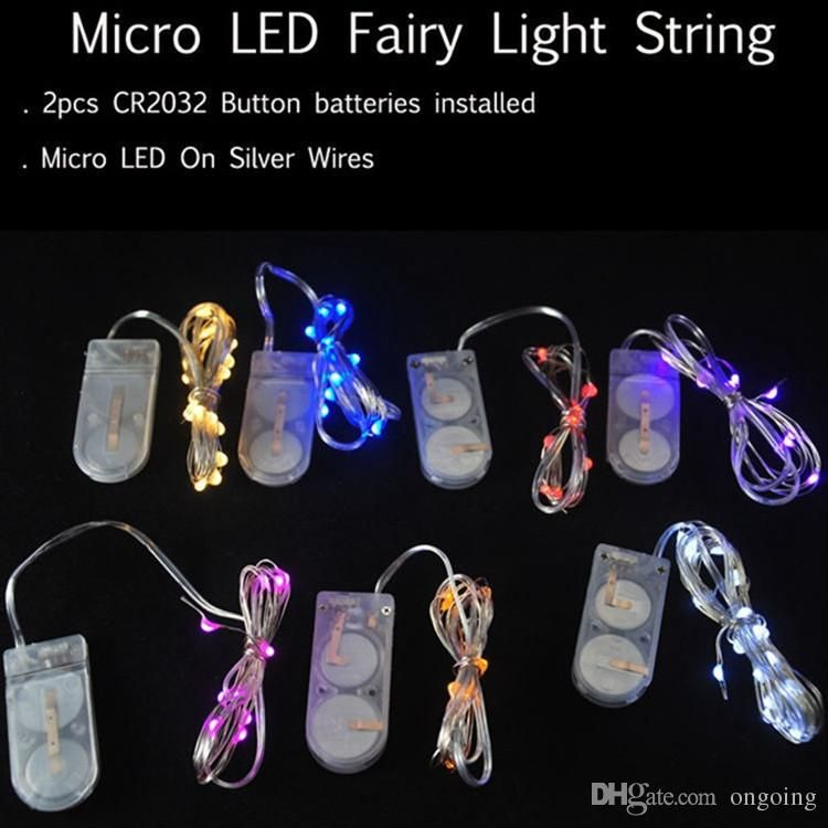Newest Cr2032 Battery Operated 2m 20leds Micro Led Fairy String - outdoor christmas decorations wholesale