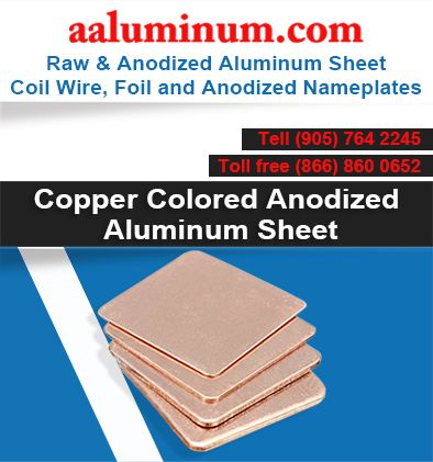 Looking for copper colored anodized aluminum sheet? Look no further ...