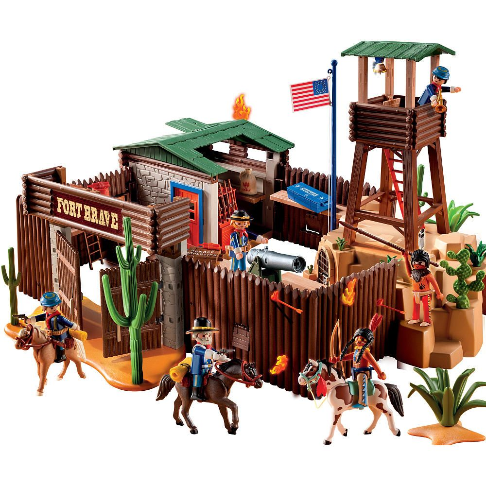 playmobil western fort playmobil toys playmobil and toy. Black Bedroom Furniture Sets. Home Design Ideas