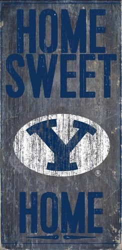 Byu Brigham Young University Sign Home Sweet Home Wall Art Home Wall Art Sweet Home Wood Signs