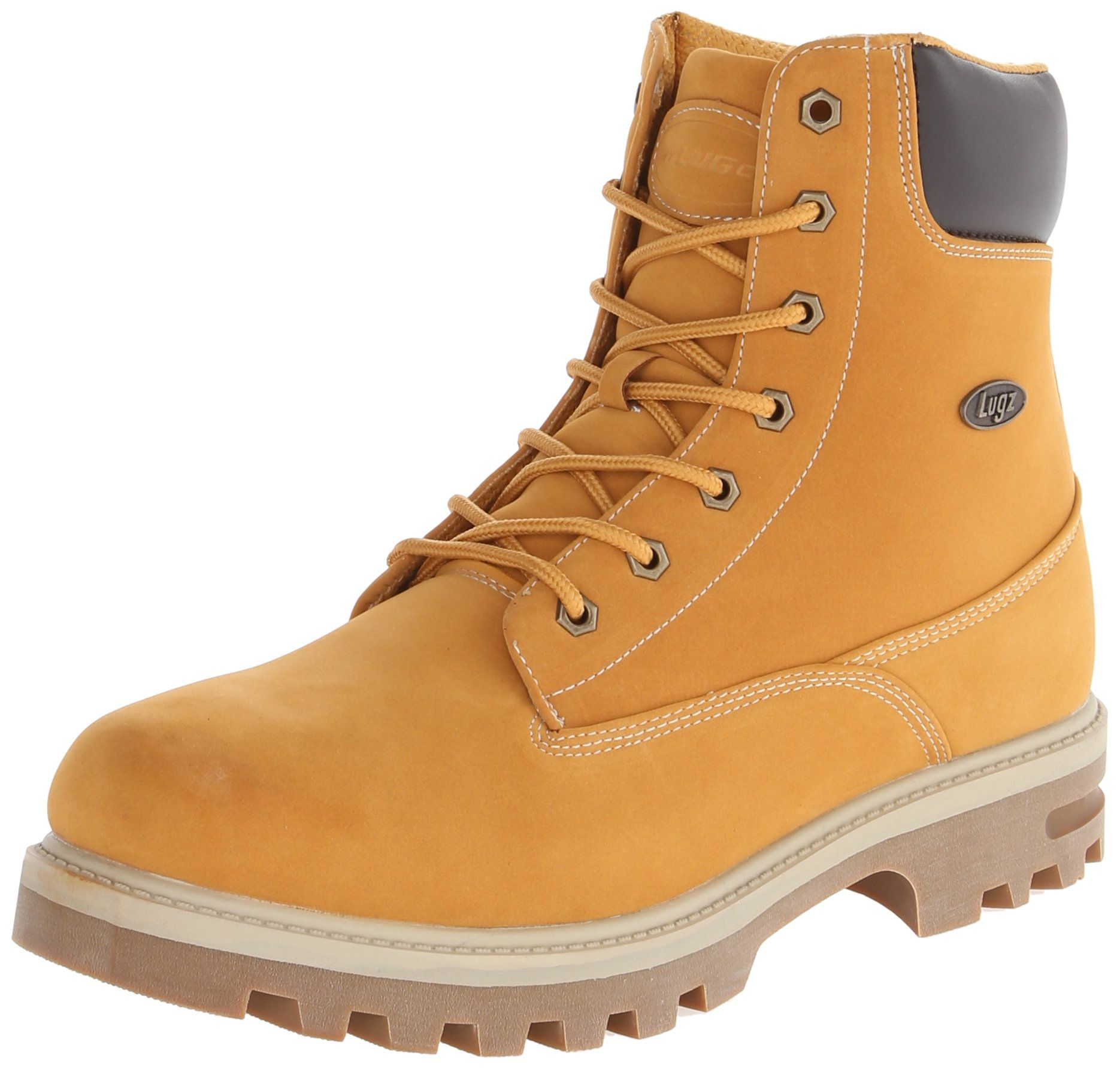 Lugz Mens Empire Hi WR Thermabuck Boot Golden Wheat/Bark/Cream/Gum 8.5