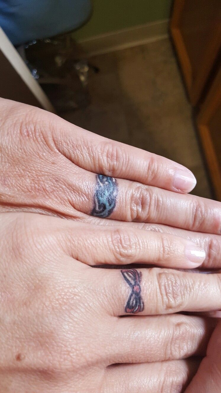Joe & Heather Wedding Ring Tattoo | Tattoos | Pinterest | Wedding ...