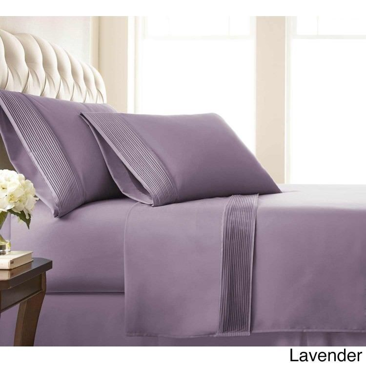 King Size Sheet 4 PC Set Deep Pocket Sheets Bedding Flat Fitted Pillowcase  New
