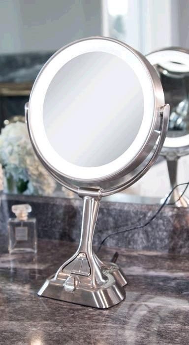 This Patented Dual Sided 10x 1x Magnified Vanity Mirror