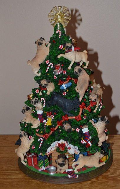 Pug Christmas Tree I Totally Need This The Funny Pug Pugs Pug