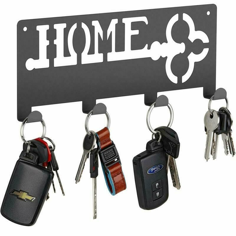 Wall Mounted Hanging Key Holder With 4 Hooks Rack Easy To Use High Quality Fashion Home Garden Modern Key Holder Wall Mounted Key Holder Magnetic Key Holder
