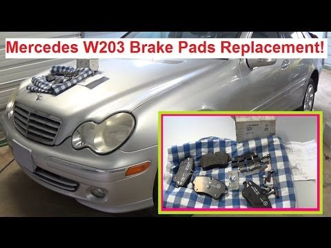 Mercedes W203 Front Brake Pads Replacement C180 C200 C230