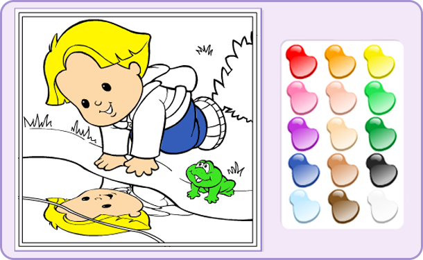 Little People Click And Color Mouse Practice Coloring Games