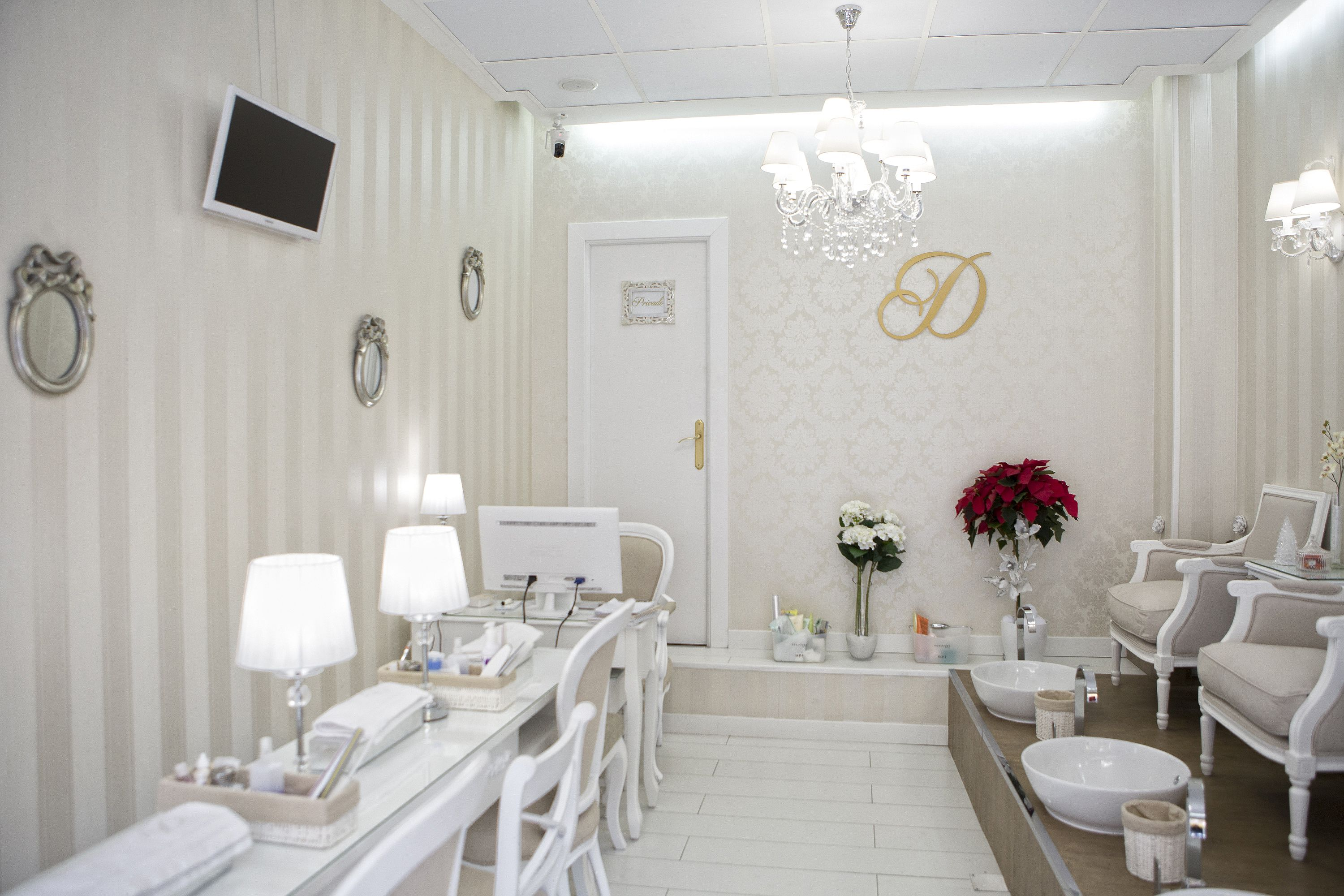 I like this clean fresh look and set up for a home nail salon   nail ...