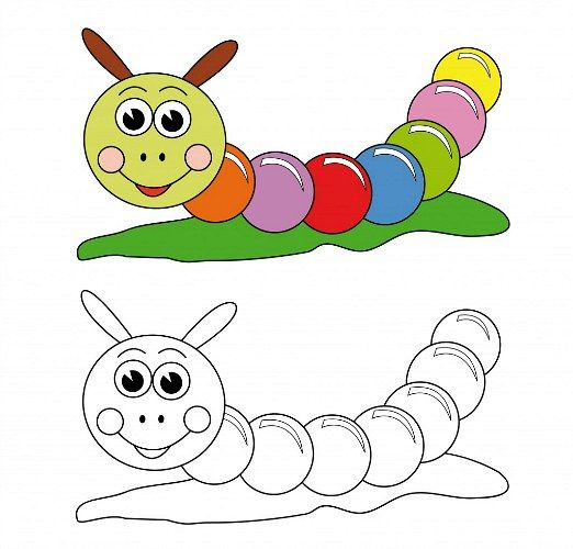 Worm Coloring Book Page For Kids Heres a Worm coloring