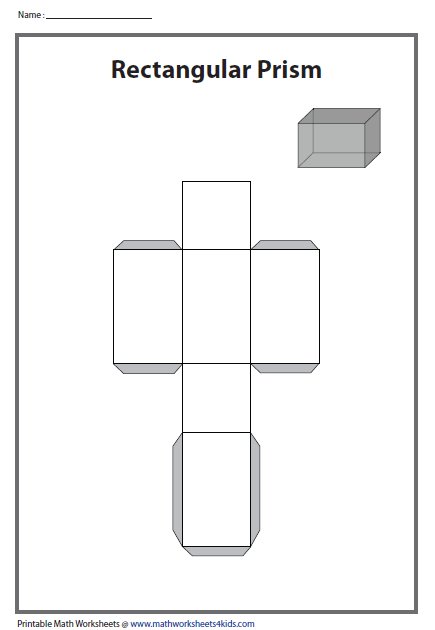 Best Photos of Rectangular Prism Cut Out Template - Printable 3D ...