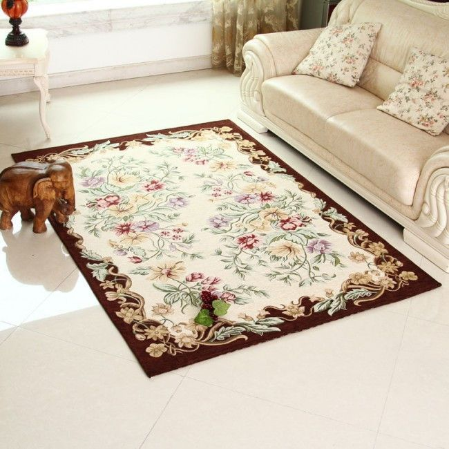 Traditional style large area rug