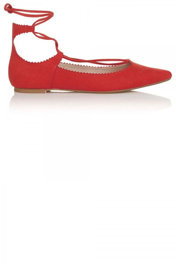 Topshop Finest Ghillie Lace Up Flats, £28