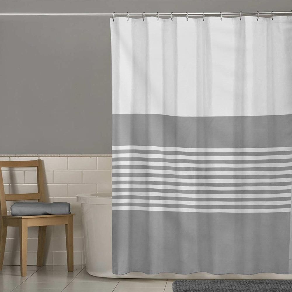 Mb Grey Texture One Piece Washroom Curtain Elo4life Bigbrands