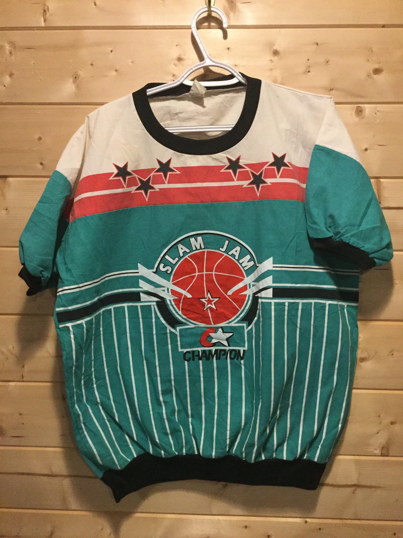 0bae1d54 Vintage 1990's Champion Slam Jam Sweatshirt Short Sleeve overprint Retro  Double Sided T-Shirt by 413productions on Etsy