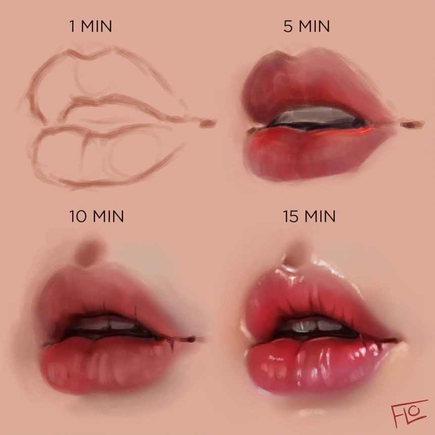 Spectacular Paintings Week 12 Lips Drawing