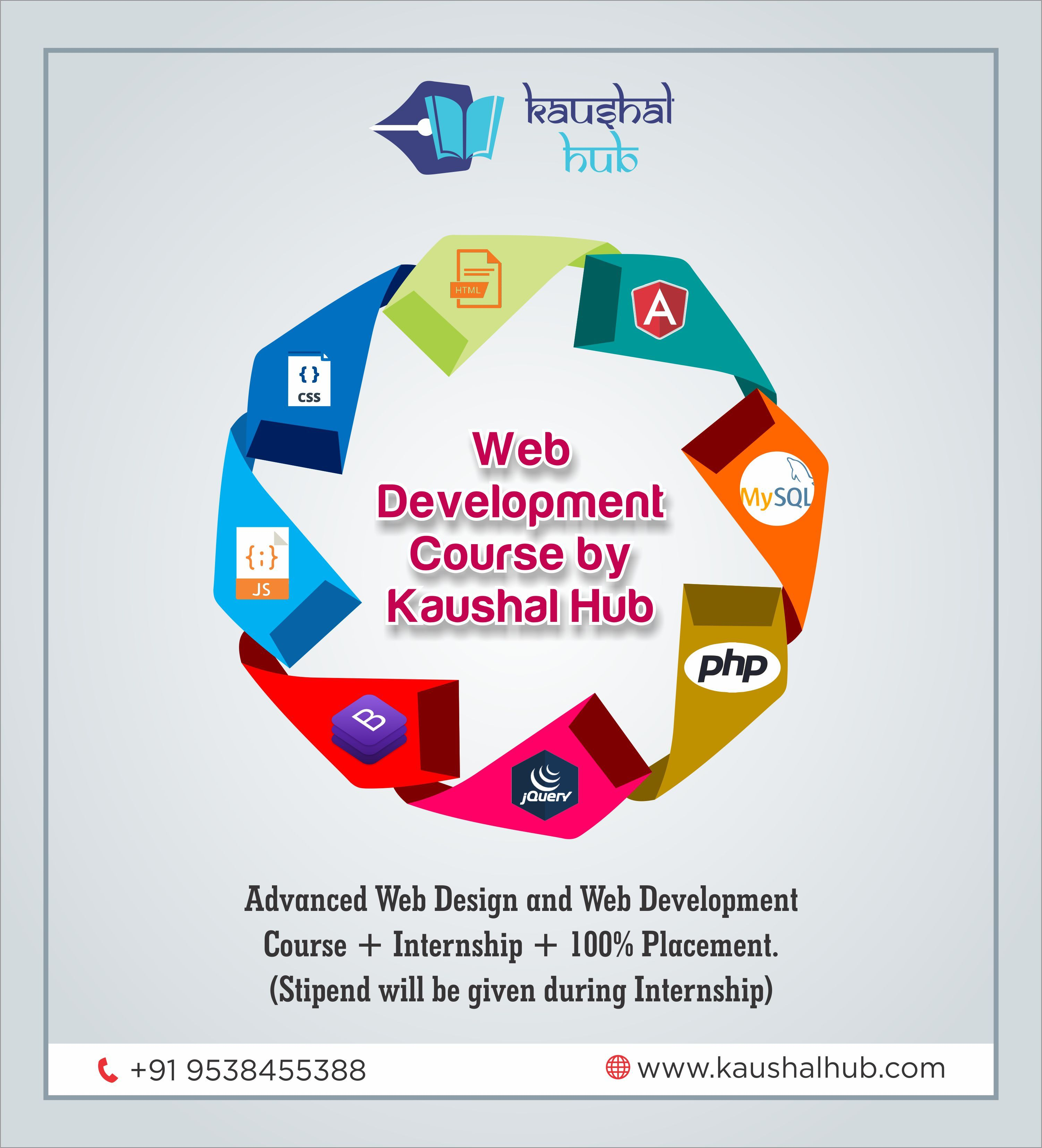 Web Development Course Offered By Kaushalhub Html Css Javascript Bootstrap Jquery Php Mysql Web Development Course Web Development Development