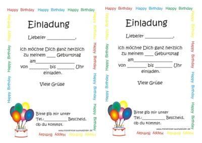 malvorlage kindergeburtstag einladung 1 | ideen rund ums haus, Einladungen