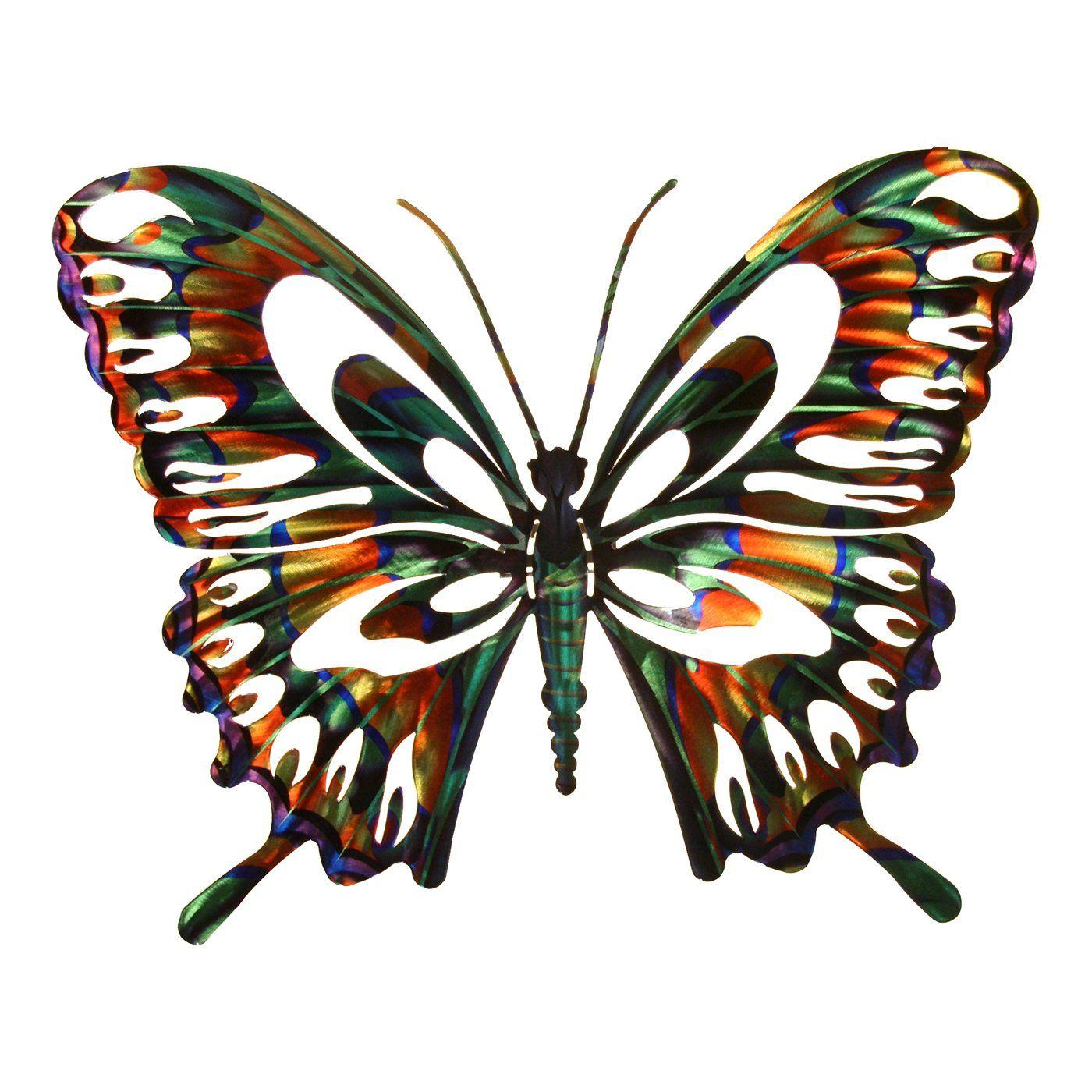 Next innovations wadbflymulti butterfly indooroutdoor metal art