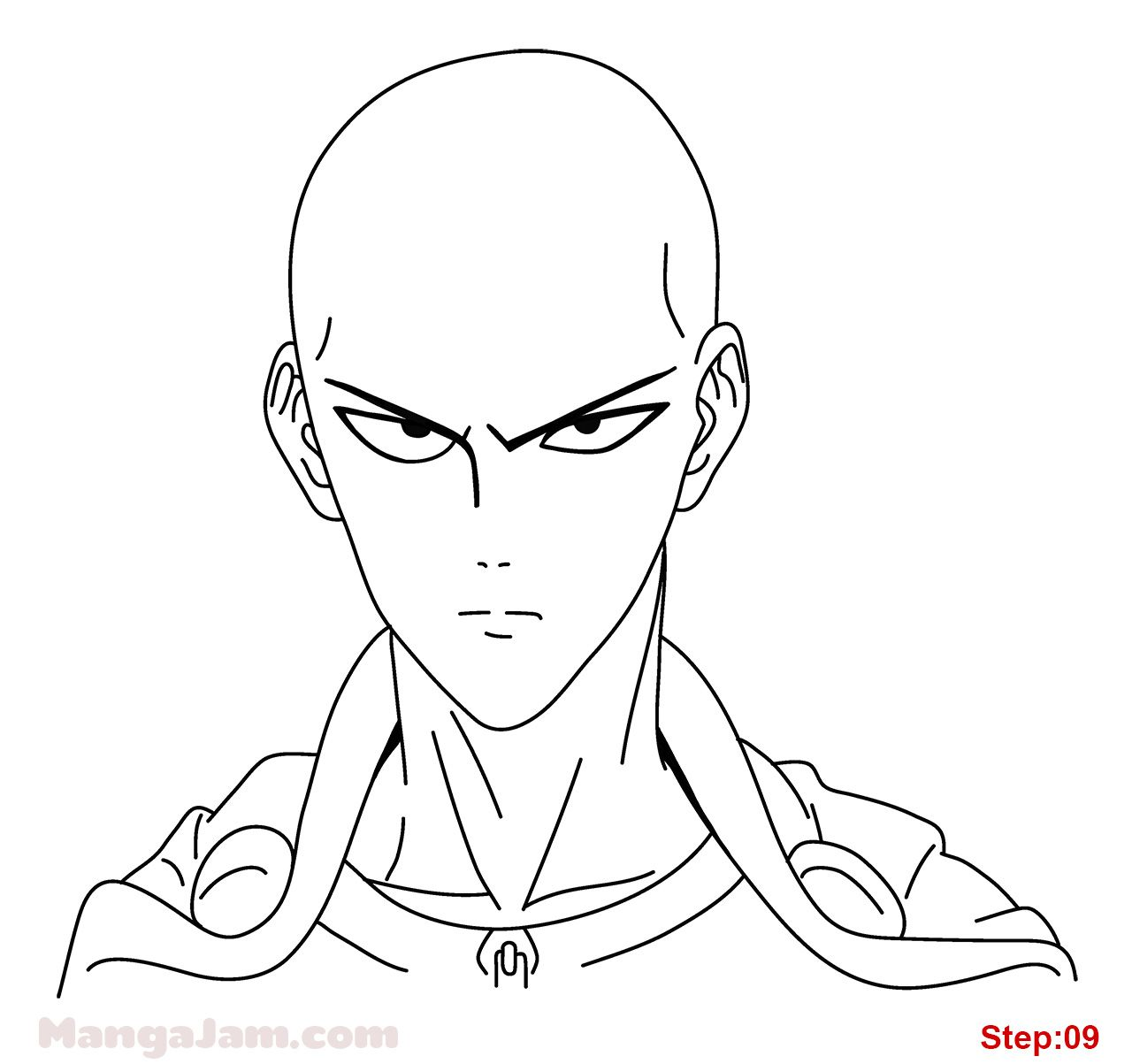 How To Draw Saitama From One Punch Man Mangajam Com In 2020 One Punch Man Anime Saitama One Punch Man Saitama One Punch