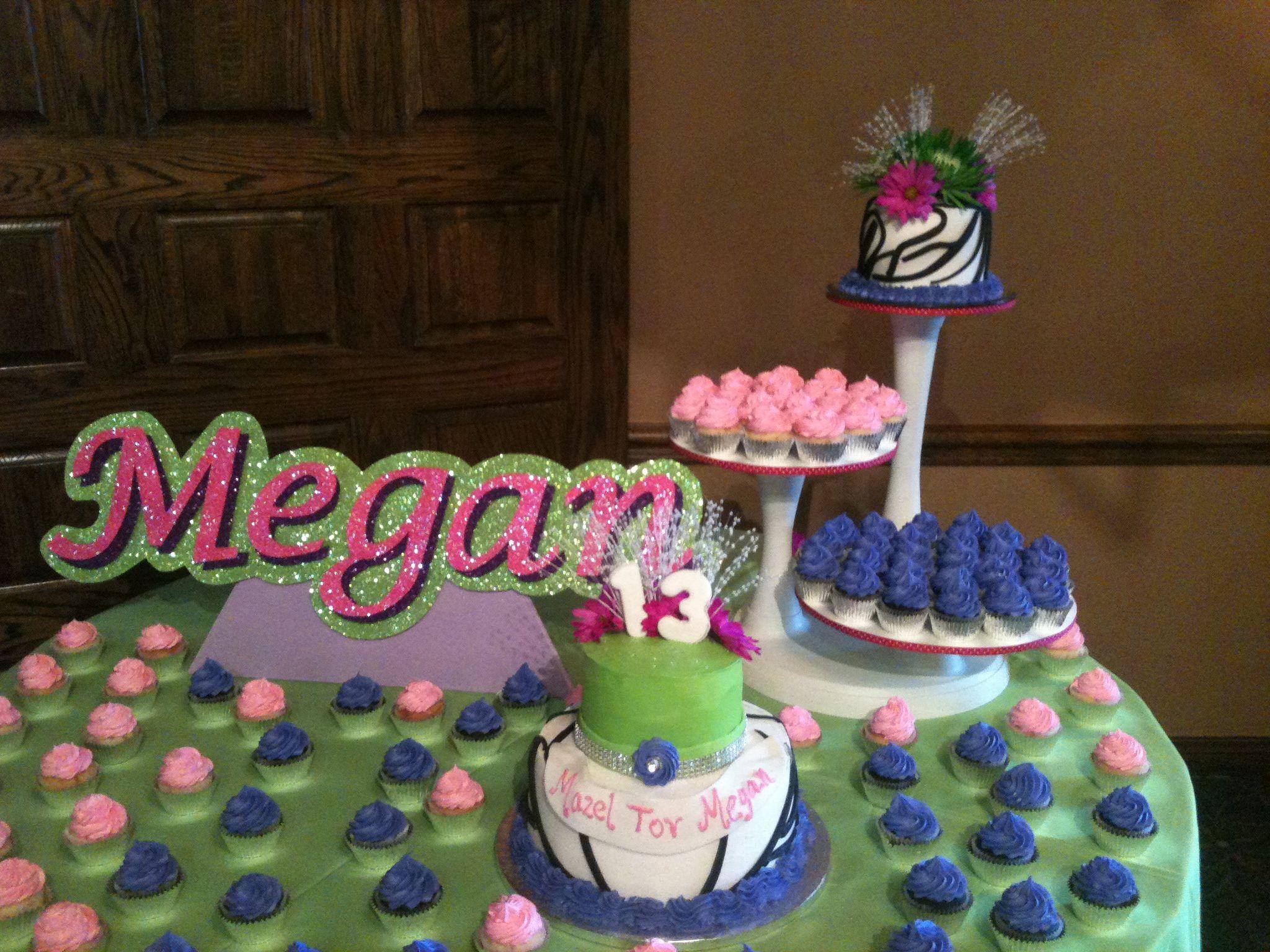 Megans Cupcake Cake Display Triflescakes Birthday Cakes