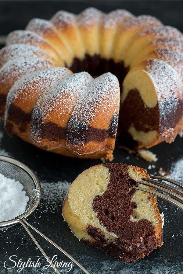 Marmorkuchen Geht Immer Stylish Living Marmorkuchen Saftig Kuchen Kuchen Und Torten Rezepte
