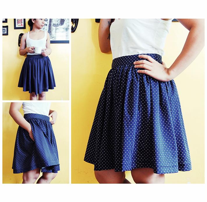 DIY gathered skirts with pockets | diy style | Pinterest | Nähen ...