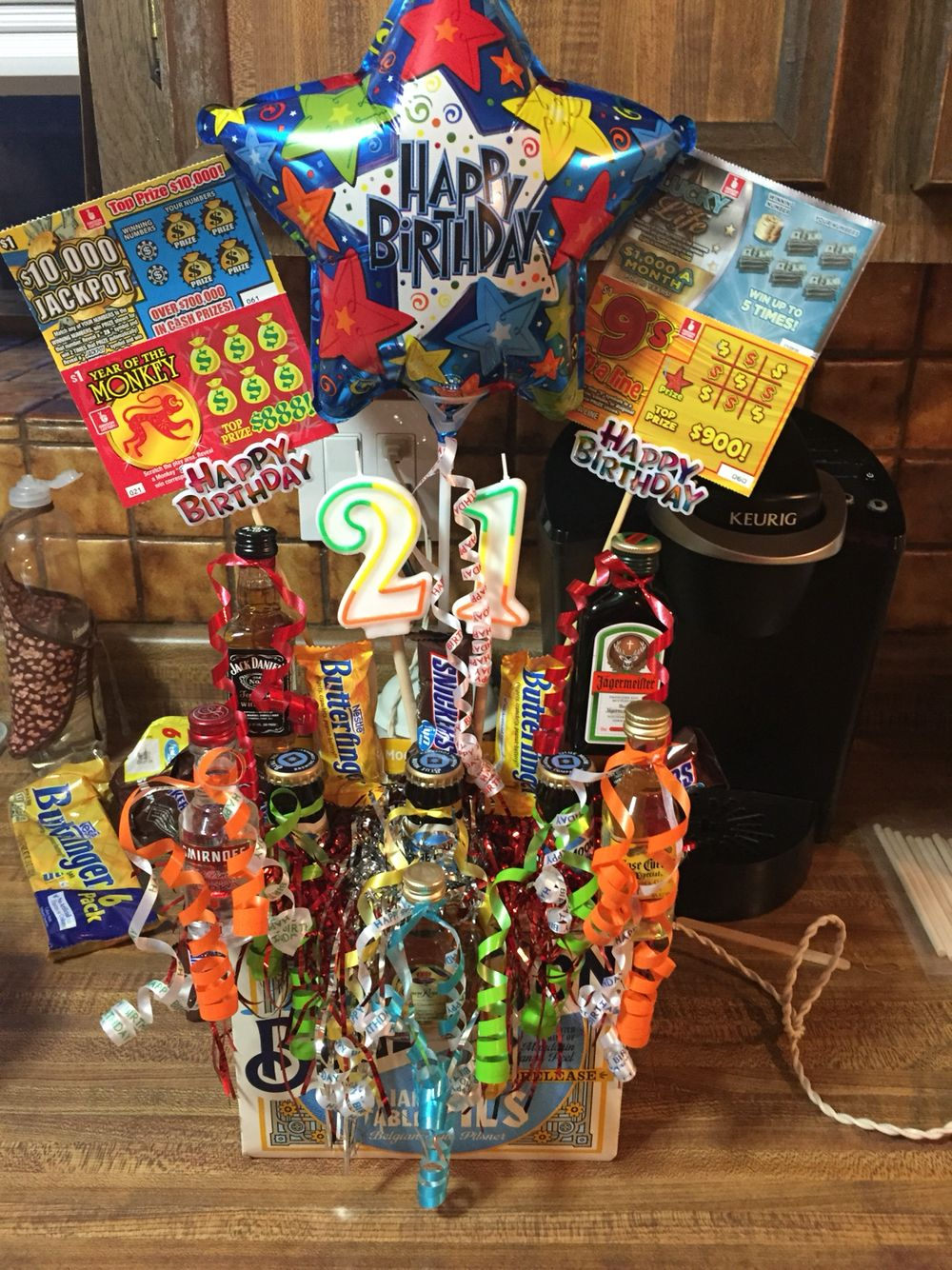 21st birthday boozequet diy gifts 21st birthday gifts