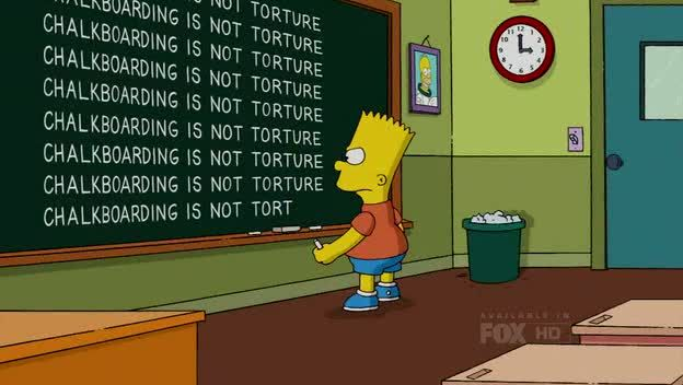 The Simpsons S21E02: Chalkboard is not torture