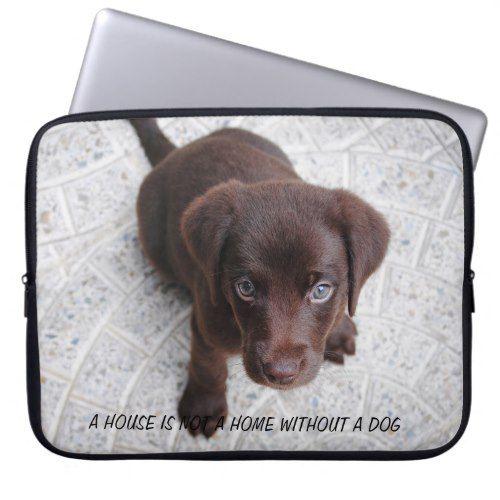 Puppy Quote Computer Sleeve Labrador retriever, Dog