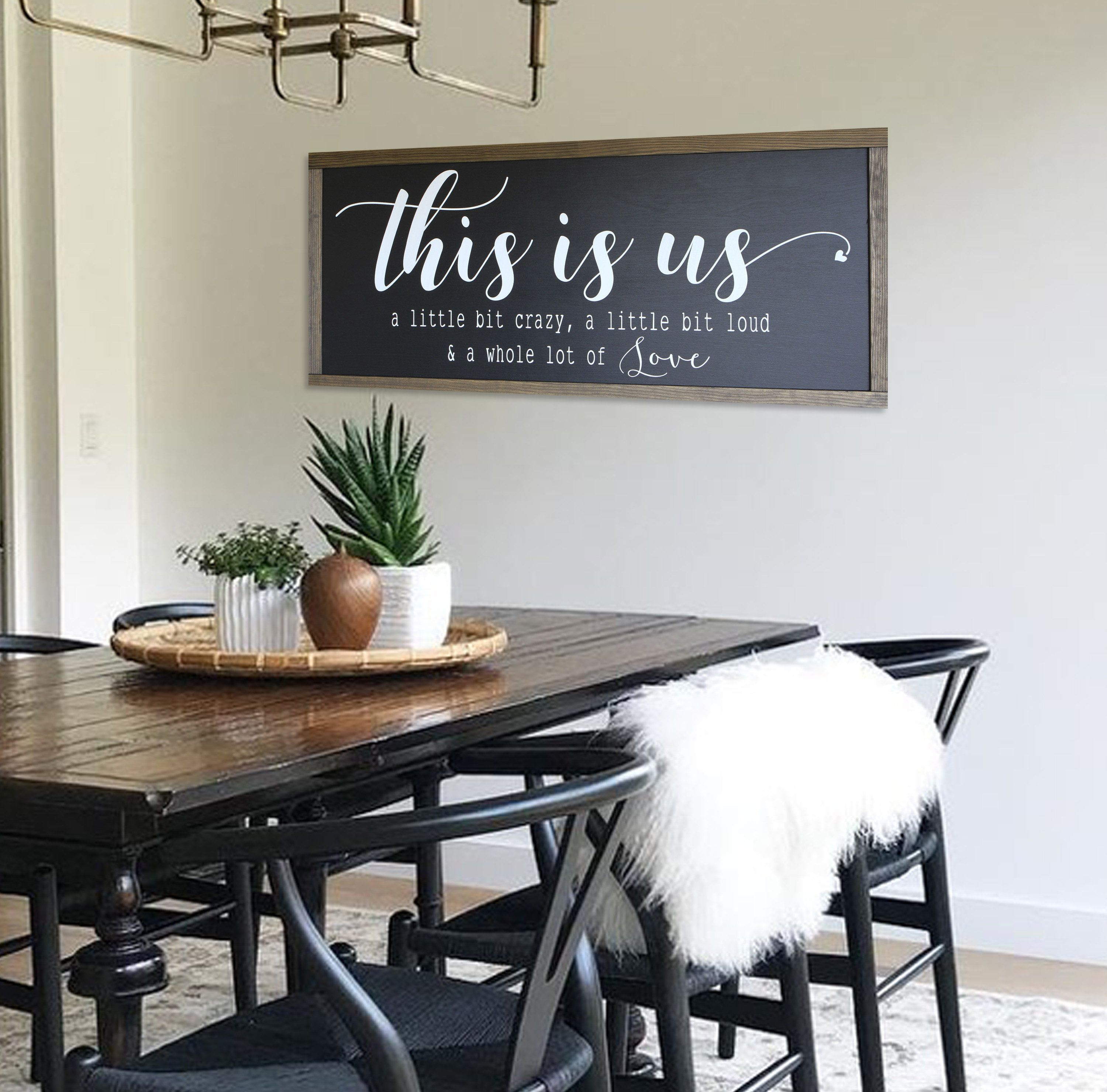 Home Decor Sign This Is Us Wood Sign Family Sign Farmhouse