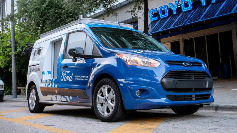 2017 Ford Transit Connect Wagon Front Side View Ford