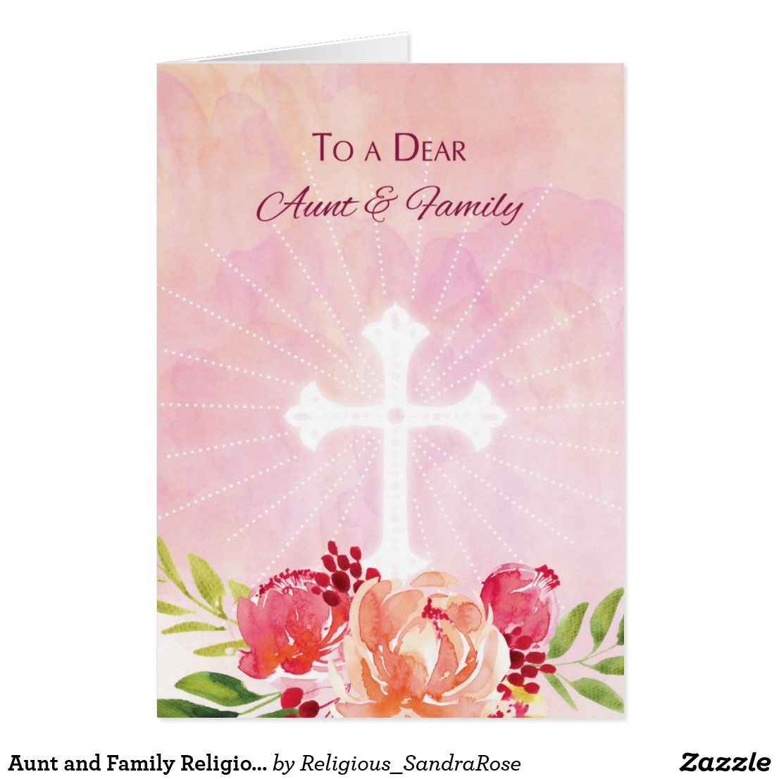 Aunt And Family Religious Easter Blessings Card Easter