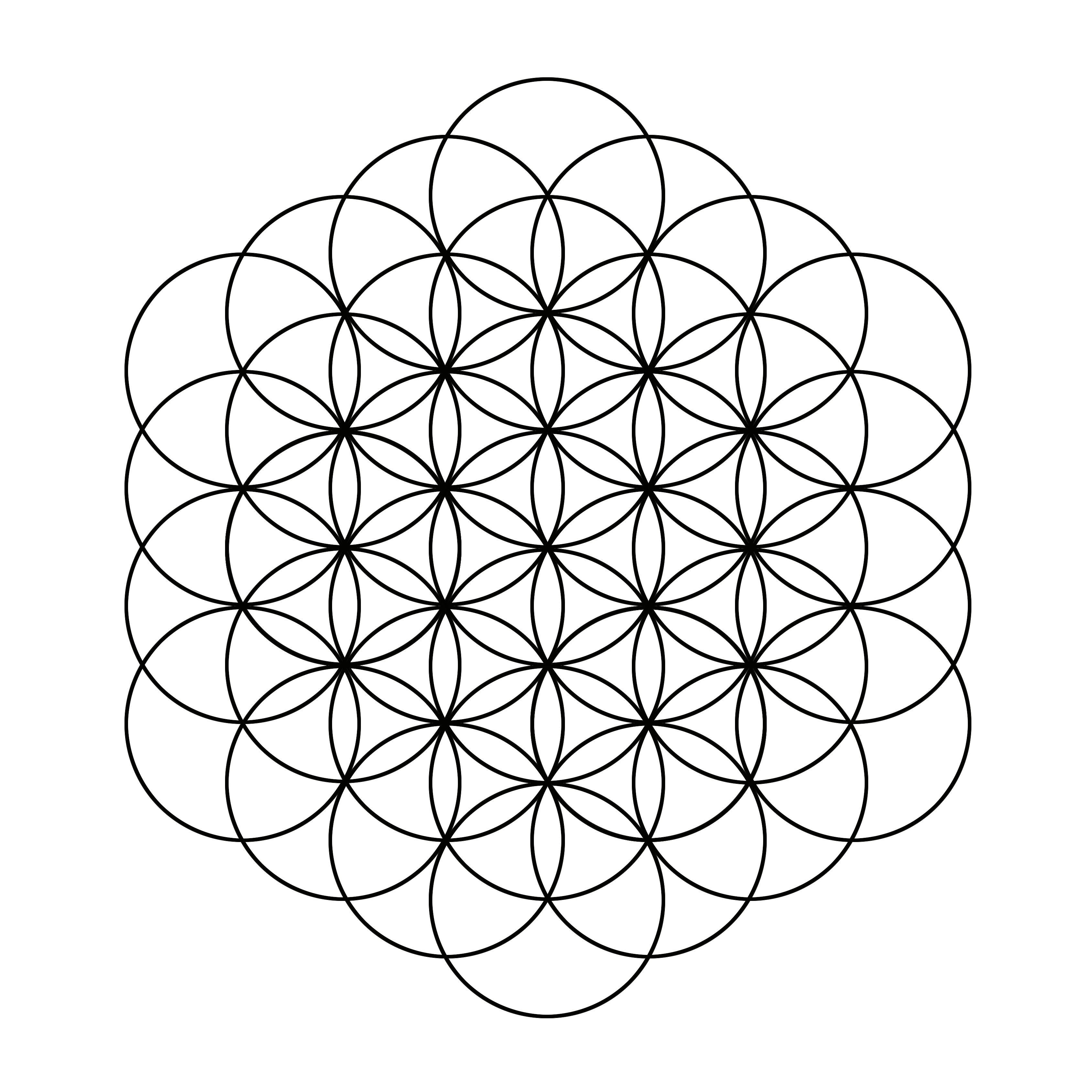 Fleur de vie tattoos pinterest dessin g om trique g om trie sacr e et fleur de vie tatouage - Coloriage fleur geometrique ...