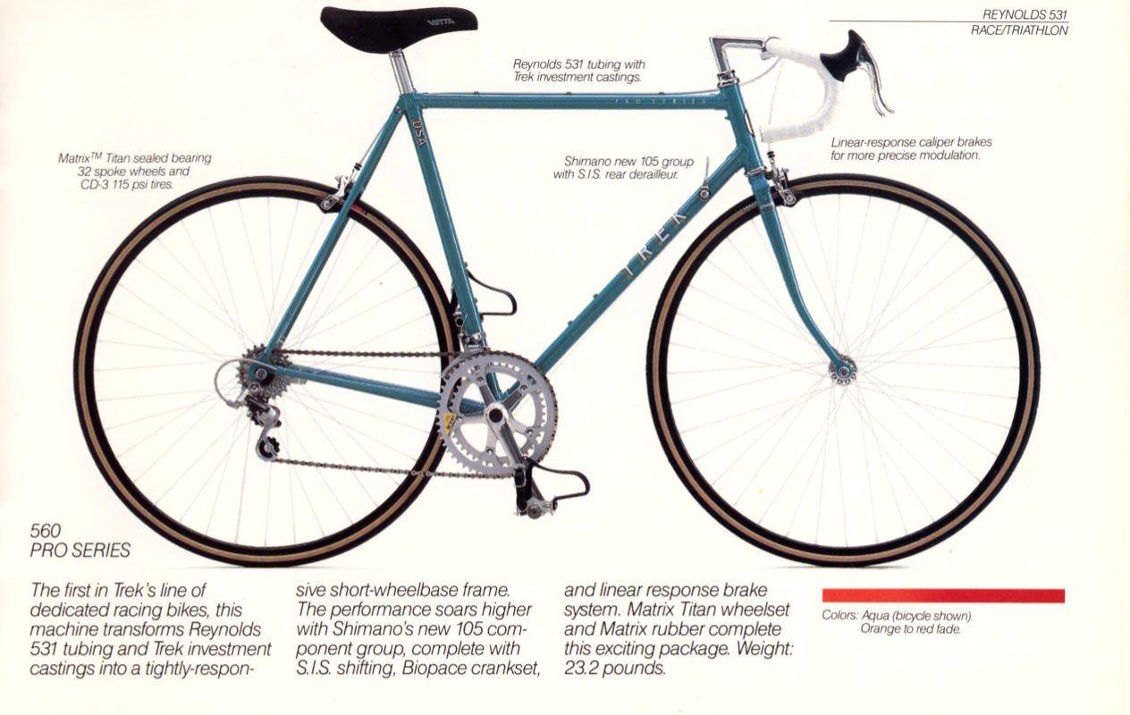 1987 Trek Bicycle Brochure Trek Bicycle Bicycle Trek