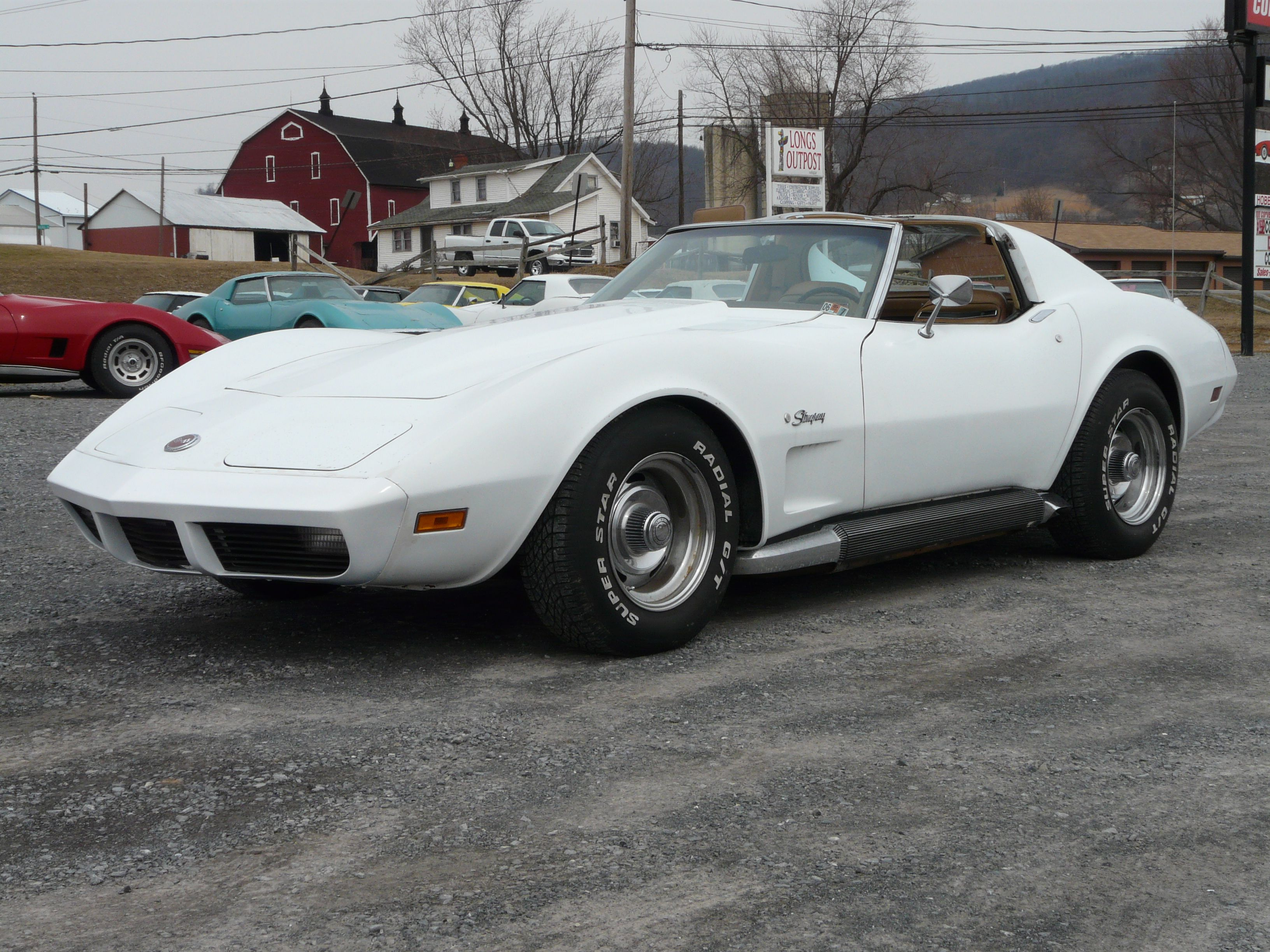 Picture of 1973 chevrolet corvette coupe exterior - 1974 White Corvette Stingray T Top 4spd Check Out This Vette 1973 Blue Corvette T