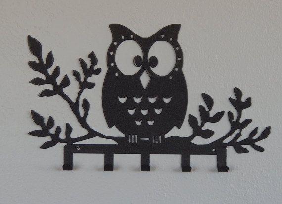 Owl Key Holder Wall Decor Rack Hook Decorations Gifts Bedroom