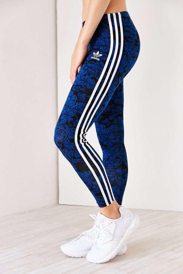 5b52dd582b7eb adidas Blue Floral Legging - Urban Outfitters