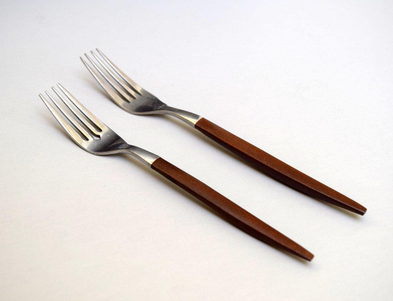 4 Ekco Eterna Canoe Muffin Forged Stainless Japan Flatware Dinner Knives