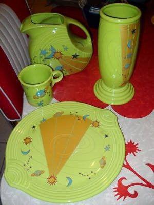 Fiesta Ware Chartreuse Vase American Museum Nat History 105709550