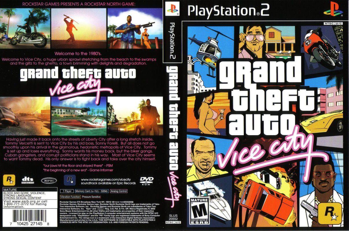 Grand Theft Auto 2 Auto Vice City Ps2 Grand Theft Auto Vice City Iso Para Playstation 2