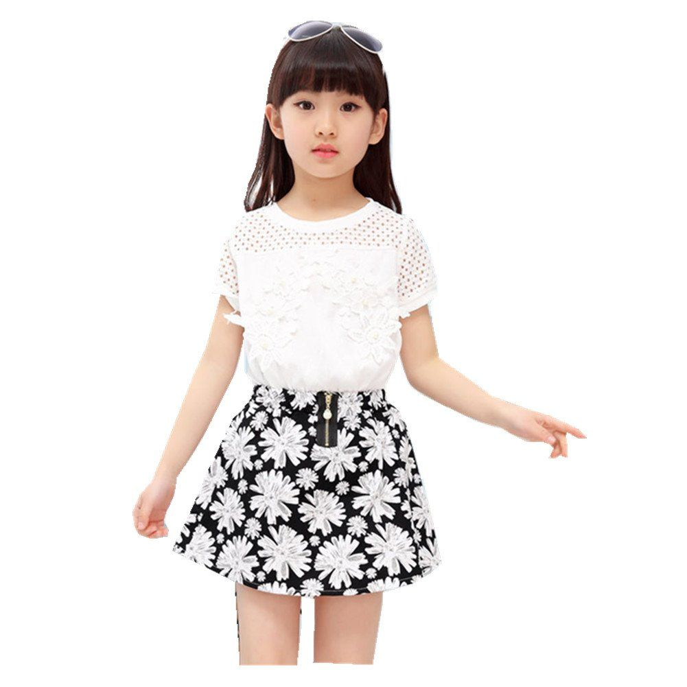 Girls White Shift Dress Age 3-4 Clothes, Shoes & Accessories