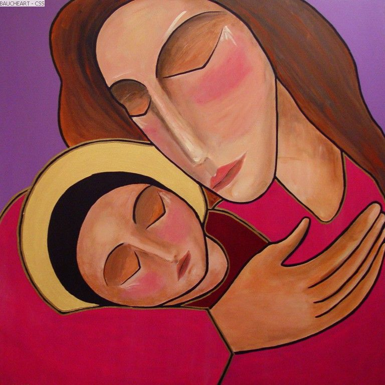 Mary and Jesus by Gisele Bauche   Common Sparrow Studios