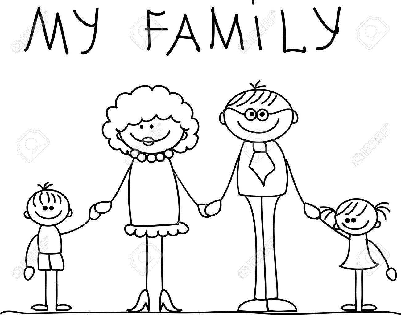 Familia Feliz La Mano Y Sonriendo Familia Feliz Imagenes De Familia Unida Patrones Para Pintar Piedras