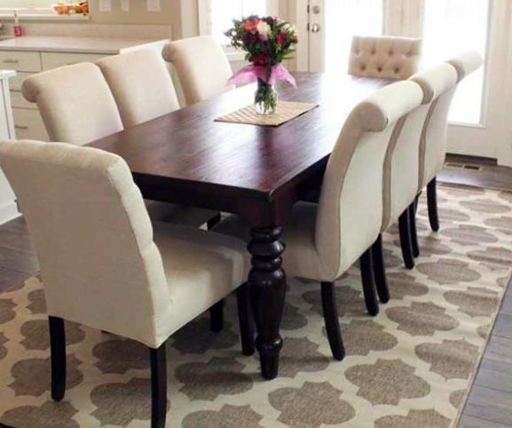 Pin By Kristan Cheers On Home Remodel Inspiration Dining Room Rug Dining Room Rug Size Dining Table Rug