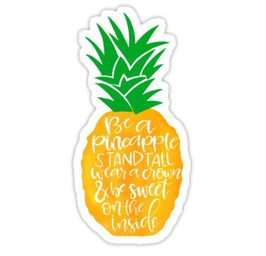 'Pineapple' Sticker by marleesmarkings Stickers