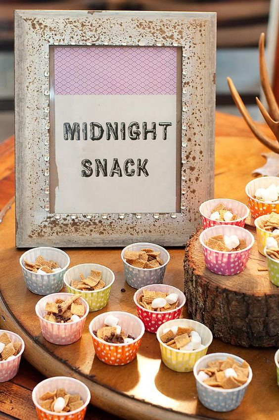 Girls Quot Glamping Quot Sleepover Birthday Party Snacks Girl